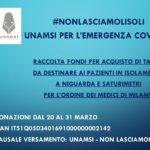 Raccolta fondi Unamsi per Niguarda – #NonLasciamoliSoli
